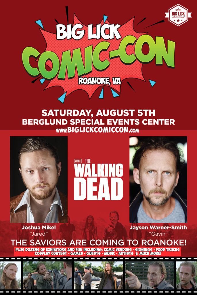 BL Comic Con Flyer with WD Guests